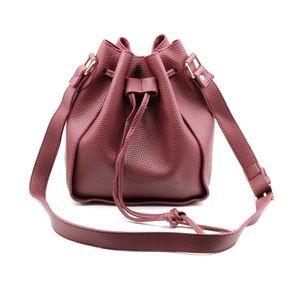 Fashion red buckets leather handbag